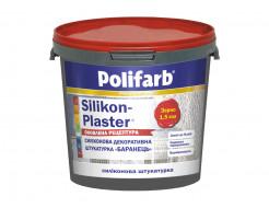 Силиконовая декоративная штукатурка Polifarb Silikon-Plaster Барашек (1,5 мм) белая