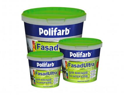 Высококачественная краска для фасадов и интерьеров Polifarb Фасадультра матовая белая - изображение 2 - интернет-магазин tricolor.com.ua