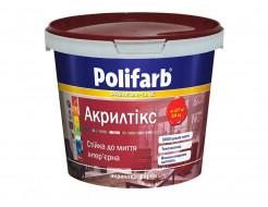 Интерьерная матовая краска для стен и потолков Polifarb Акрилтикс матовая белая - интернет-магазин tricolor.com.ua