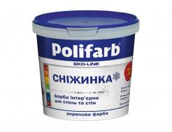Белоснежная акриловая матовая краска для стен и потолков Polifarb Снежинка