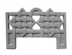 Форма оградки №3 (АБС) Мастера Форм 100х70х4 см