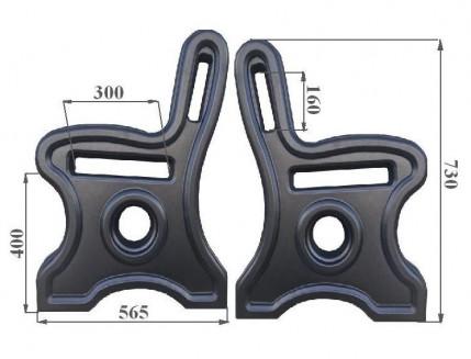 Форма лавочки левая и правая АБС BF 73х56,5х4