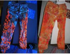 Краска флуоресцентная AcmeLight для ткани оранжевая