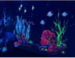 Краска люминесцентная AcmeLight для интерьера красная - интернет-магазин tricolor.com.ua