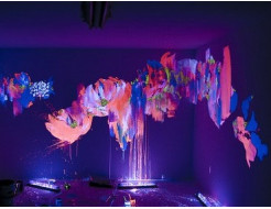 Краска люминесцентная AcmeLight для интерьера розовая - интернет-магазин tricolor.com.ua