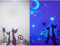 Краска флуоресцентная AcmeLight для интерьера белая - интернет-магазин tricolor.com.ua