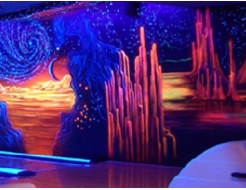 Краска флуоресцентная AcmeLight для интерьера розовая