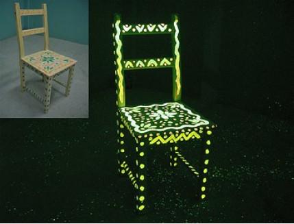 Краска светящаяся AcmeLight для дерева желтая - интернет-магазин tricolor.com.ua