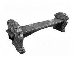 Форма декора Скамья Садовая (ножка) Стеклопластик BF 180х35х44