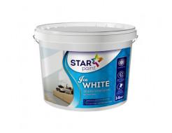 Интерьерная краска Ice WHITE для стен и потолков Star Paint матовая