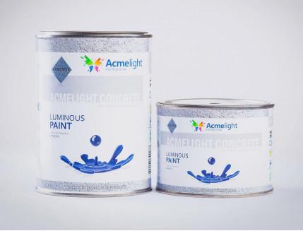 Краска люминесцентная AcmeLight для бетона голубая - изображение 3 - интернет-магазин tricolor.com.ua