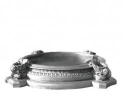 Форма декора Бассейн для фонтана Стеклопластик и силикон BF H-360 D-190/270