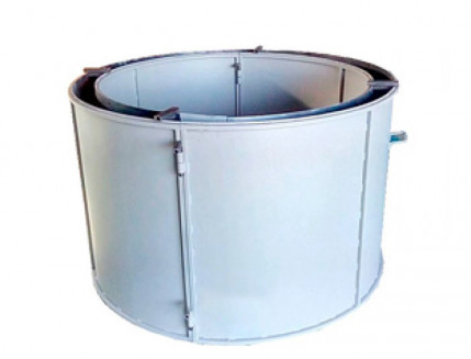 Форма кольца колодезного №2 BF стенка 2 мм профильная труба 20х20 H-89 D-60/74 - изображение 3 - интернет-магазин tricolor.com.ua