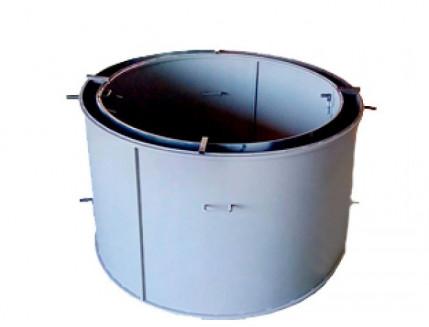 Форма кольца колодезного №2 BF стенка 4 мм профильная труба 40х40 H-89 D-60/74 - изображение 2 - интернет-магазин tricolor.com.ua