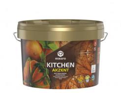 Краска акриловая Eskaro Akzent Kitchen влагостойкая матовая белая - интернет-магазин tricolor.com.ua