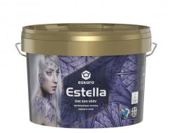Краска акрилатная Eskaro Estella высокоукрывистая белоснежная глубокоматовая