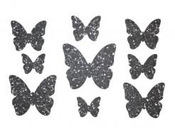 Декор из жидких обоев Bioplast Бабочки №2 - 9 элементов