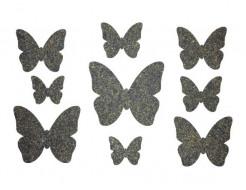 Декор из жидких обоев Bioplast Бабочки №3 - 9 элементов