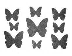 Декор из жидких обоев Bioplast Бабочки №4 - 9 элементов