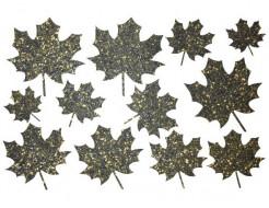 Декор из жидких обоев Bioplast Листья №1 - 12 элементов