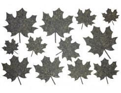 Декор из жидких обоев Bioplast Листья №3 - 12 элементов