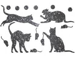 Декор из жидких обоев Bioplast Коты №2 - 16 элементов