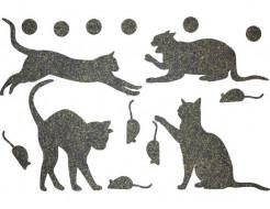 Декор из жидких обоев Bioplast Коты №3 - 16 элементов