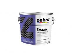 Антикоррозионная эмаль 3в1 «Кольчуга» Zebra глянцевая красная