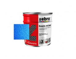 Антикоррозионная молотковая эмаль 3в1 «Кольчуга» Zebra глянцевая синяя - интернет-магазин tricolor.com.ua