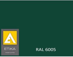 Краска порошковая полиэфирная Etika Зеленая RAL 6005 шагрень