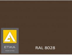 Краска порошковая полиэфирная Etika Коричневая RAL 8028 матовая