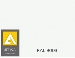 Краска порошковая полиэфирная Etika Сигнальная белая RAL 9003 глянцевая