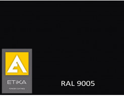 Краска порошковая полиэфирная Etika Черная RAL 9005 глянцевая