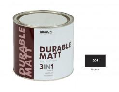 Антикоррозионная матовая краска-грунт Biodur 3 в 1, 205 Черная АКЦИЯ!