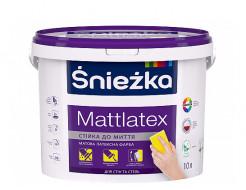 Краска латексная Sniezka Mattlatex матовая белая для стен и потолков