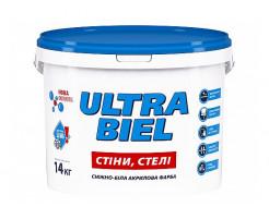 Краска акриловая Sniezka Ultra Biel матовая снежно-белая для стен и потолков