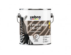 Грунтовка ГФ-021 алкидная антикоррозионная Zebra матовая белая