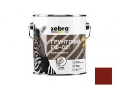 Грунтовка ГФ-021 алкидная антикоррозионная Zebra красно-коричневая