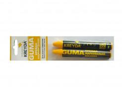 Мел восковой разметочный для резины Kreyda Guma (желтый) 2 шт