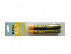 Мел восковой разметочный для стекла Kreyda Sklo (желтый) 2 шт