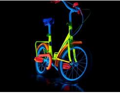 Краска люминесцентная AcmeLight для металла (2К) синяя