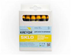 Мел восковой разметочный для стекла Kreyda Sklo (желтый) 12 шт