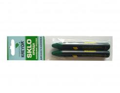 Мел восковой разметочный для стекла Kreyda Sklo (зеленый) 2 шт