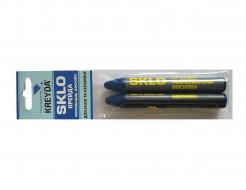 Мел восковой разметочный для стекла Kreyda Sklo (синий) 2 шт