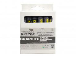 Мел восковой разметочный для бумаги, скотча Kreyda Graphite (12 шт)