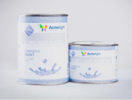 Краска люминесцентная AcmeLight для пластика (2К) синяя - изображение 2 - интернет-магазин tricolor.com.ua