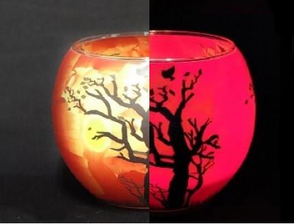 Краска люминесцентная AcmeLight для стекла (2К) красная - интернет-магазин tricolor.com.ua