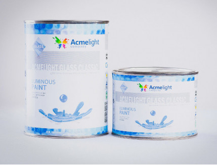 Краска люминесцентная AcmeLight для стекла (2К) красная - изображение 2 - интернет-магазин tricolor.com.ua