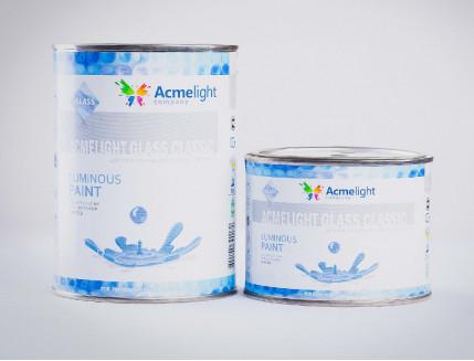 Краска люминесцентная AcmeLight для стекла (2К) голубая - изображение 3 - интернет-магазин tricolor.com.ua