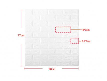 Самоклеющаяся декоративная 3D панель «Кирпич» белый №1 (5 мм) - изображение 10 - интернет-магазин tricolor.com.ua